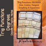 Trig Functions DEGREES Sin Cos Tan Packet Doodle Graphic Organizer/Booklet