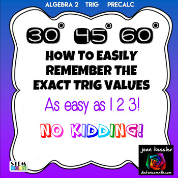 Trig  Geometry  30 45 60 Easily Remember the Exact Values
