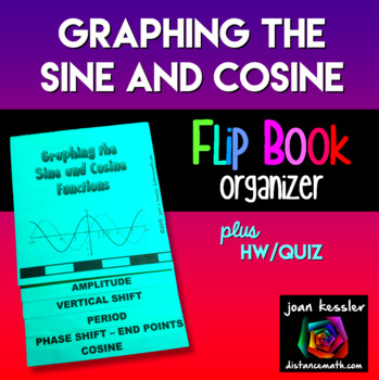 Trig Graphing the Sine and Cosine Flip Book Foldable plus HW