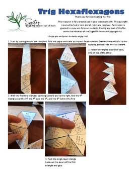Trig Hexaflexagon