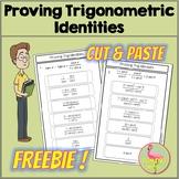 Trig Identities Cut & Paste FREEBIE