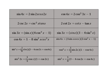 Trig Identities Group Challenge