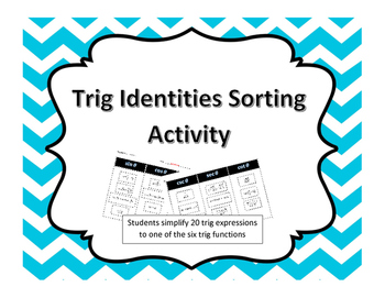 Trig Identities Sorting Activity