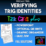 Trig Identities Bundle with QR HW PowerPoint Organizer