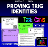 Trig Identities Task Cards with optional QR