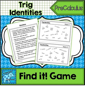 Trig Identity Find It! Game FREE