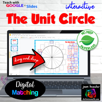 Trig Interactive Unit Circle with GOOGLE Slides Resource