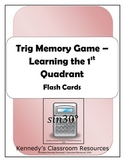 Trig Memory Game - Learning the 1st Quadrant