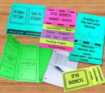 Trig PreCalculus Bundle of Foldable Organizers plus more
