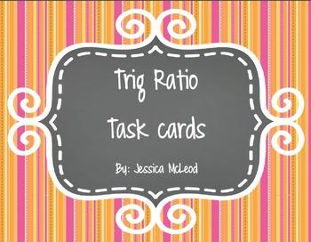 Trig Ratio Task Cards