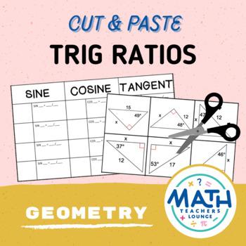Trig Ratios: Cut and Paste Activity