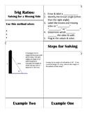 Trig Ratios: Finding a Missing Side Flipbook