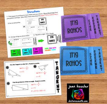 Trig Ratios Flip Book Foldable Sine Cosine Tangent