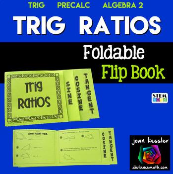 Trigonometry - Trig Ratios Flip Book Foldable Sine Cosine Tangent