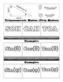 Trig Ratios Foldable