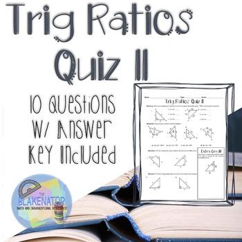 Trig Ratios Quiz 2