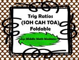 Trig Ratios (SOH CAH TOA) Foldable