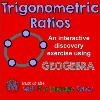 Trig Ratios - interactive Geogebra exercise for distance learning
