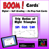 Trig Ratios of Right Triangles Sine Cosine Tangent with BOOM Cards