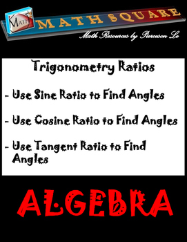 Trig Ratios - Finding angles of right triangles