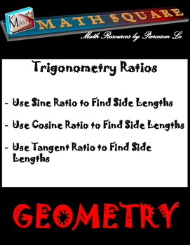 Trig Ratios - Finding missing side of right triangles