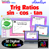 Trig Right Triangle Ratios with GOOGLE Slides™ Digital Task Cards