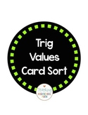 Trig Special Values Card Sort