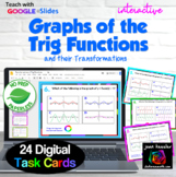 Trigonometry Transformations of Functions Digital Task Cards with GOOGLE Slides™