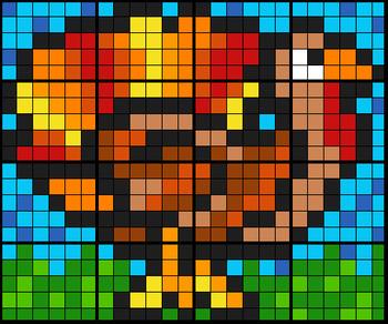 Trig Turkey - Collaborative Math Mosaic (16 worksheet set, 2 versions)
