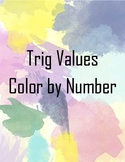 Trig Values Color by Number