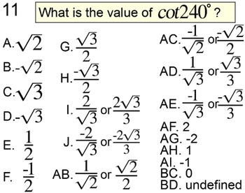 Trig Values Without a Calculator - 4 Intros + 6 Assignments for PDF