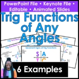 Trig Values of Any Function & Quadrantal Angles PowerPoint