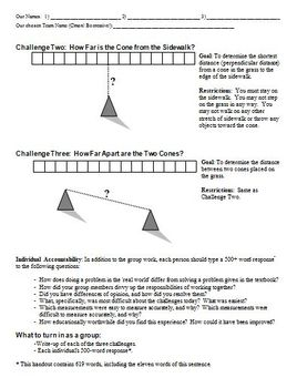 Trig in the Tower Day (Using Trigonometry in the Real World) (Editable)