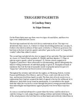 Triggerfingeritis - A Cowboy Story