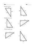 Trignometric Ratios - Sine, Cosine and Tangent