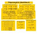 Trigometric Identities & Formulas