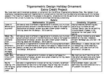 Trigonometric Design Holiday Ornament Project