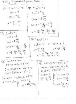 Trigonometric Equations