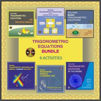 Trigonometric Equations BUNDLE Activities