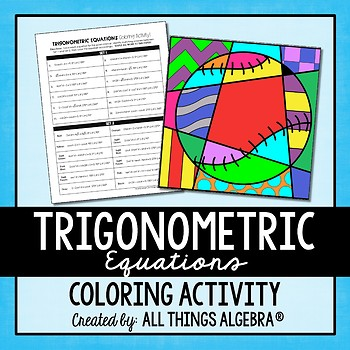 Trigonometric Equations Coloring Activity