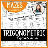 Solving Trigonometric Equations Mazes