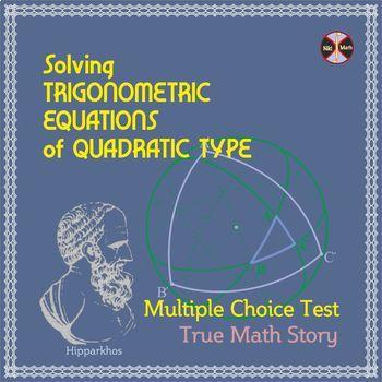 Trigonometric Equations of QUADRATIC TYPE -