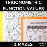 Trigonometric Function Values (Trigonometric Ratios) of Ac