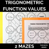 Trigonometric Function Values (Trigonometric Ratios) of Ac