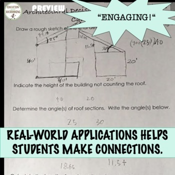 Trigonometric Functions: Architecture Mini-Project for Real-World Trig