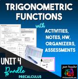 Trigonometric Functions Unit Bundle for PreCalculus and Trigonometry