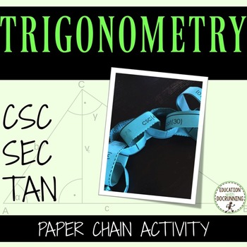 Trigonometric Cofunctions Paper Chain Activity