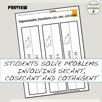 Trigonometric Cofunctions Paper Chain Activity