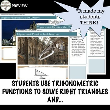 Trigonometric Functions Digital Math Detective Activity for Google Drive
