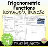 Trigonometric Functions Homework (Unit 4)